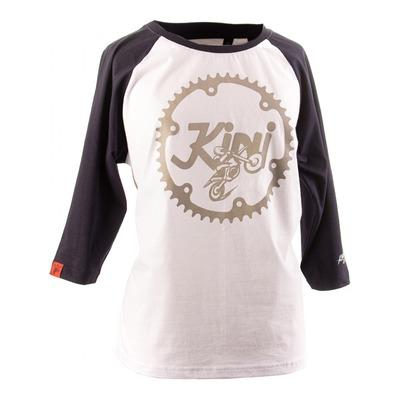 T-shirt manches longues femme Kini Red Bull Ritze blanc/bleu nuit