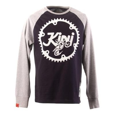 T-shirt manches longues Kini Red Bull Ritzel bleu nuit/gris chiné