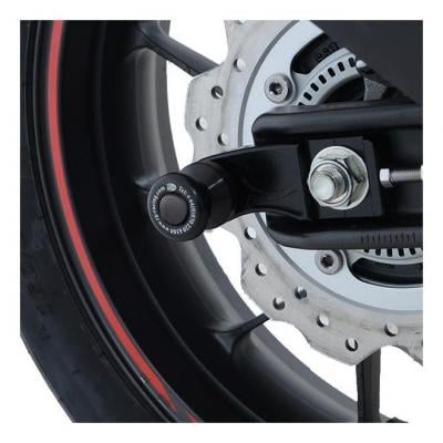 Tampons de bras oscillant R&G Racing noir sur platine Honda CBR 500 R 19-20
