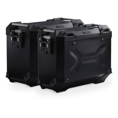Valises latérales SW-MOTECH TRAX ADV noires 45/37L support PRO Honda CRF1100L Africa Twin 2020