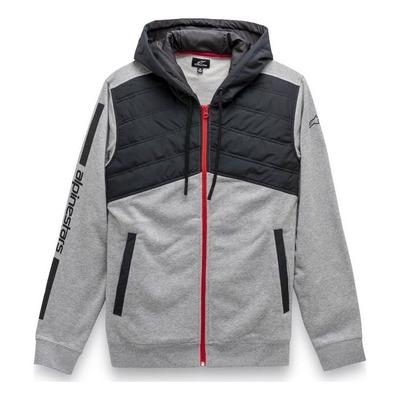 Veste à capuche zippée Alpinestars Alltime Hybrid gris/noir