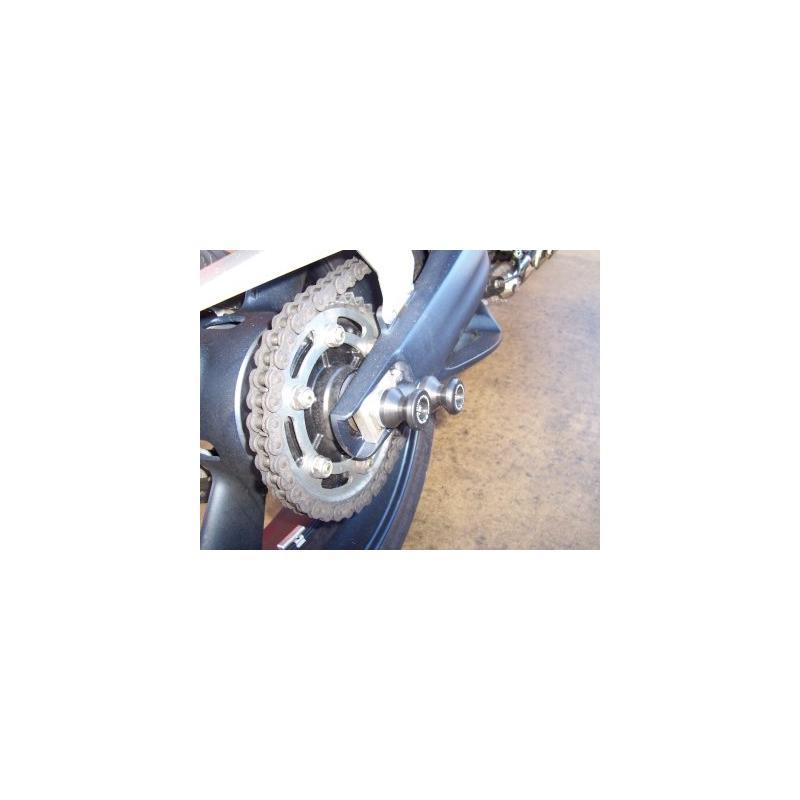 Tampons de bras oscillant diabolos R&G Racing noir Yamaha MT-01 05-12