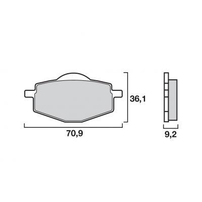 Plaquettes de frein Brembo carbone-céramique 07YA1407
