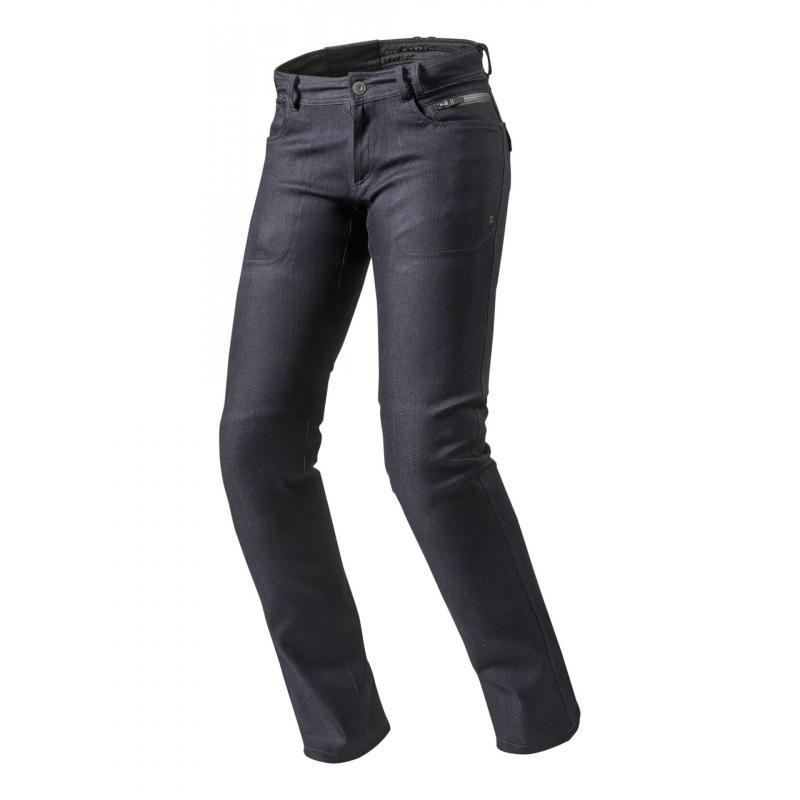 Jeans moto femme Rev'it Orlando H20 Ladies longueur 32 (court) bleu foncé