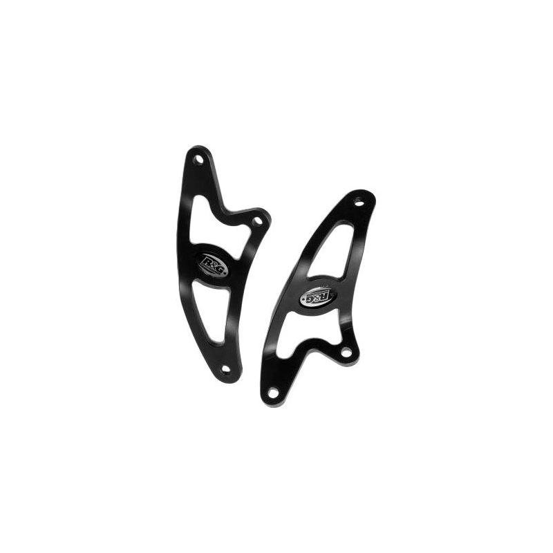 Patte de fixation de silencieux R&G Racing noire Aprilia Tuono 06-07