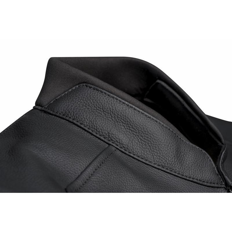 Blouson cuir Ixon Sparrow noir/blanc - 5