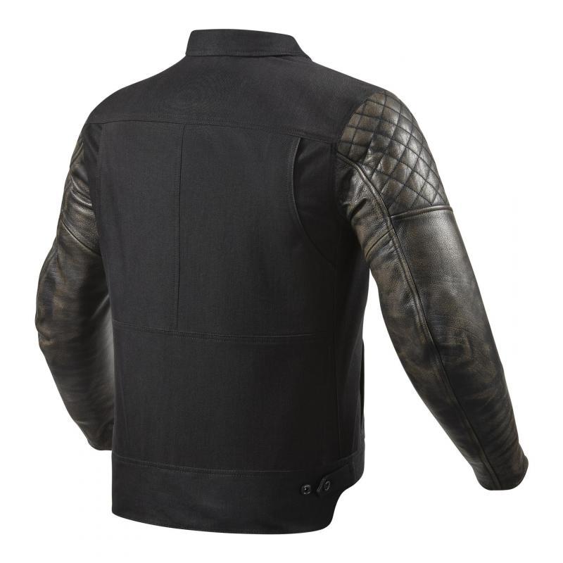 Blouson cuir/textile Rev'it Crossroads noir - 1