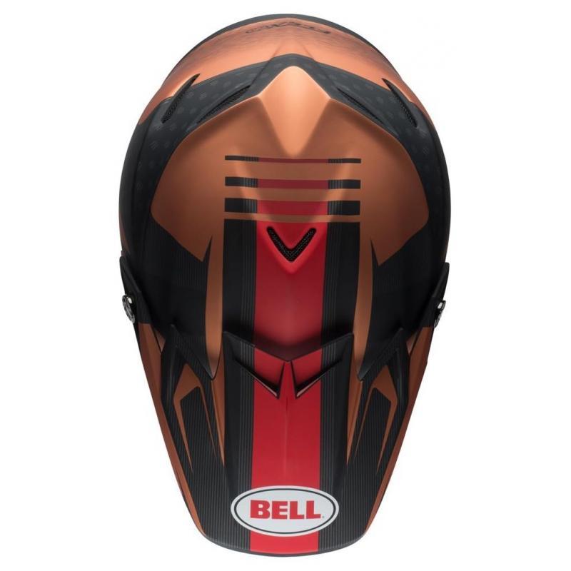 Casque cross Bell Moto 9 Flex Matte copper/black vice - 5