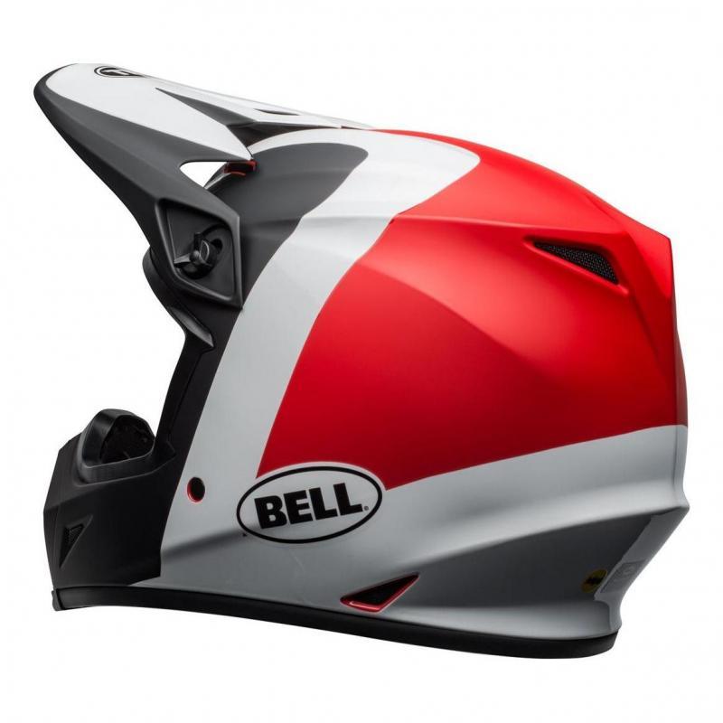 Casque cross Bell MX 9 Mips Presence noir/blanc/rouge - 3