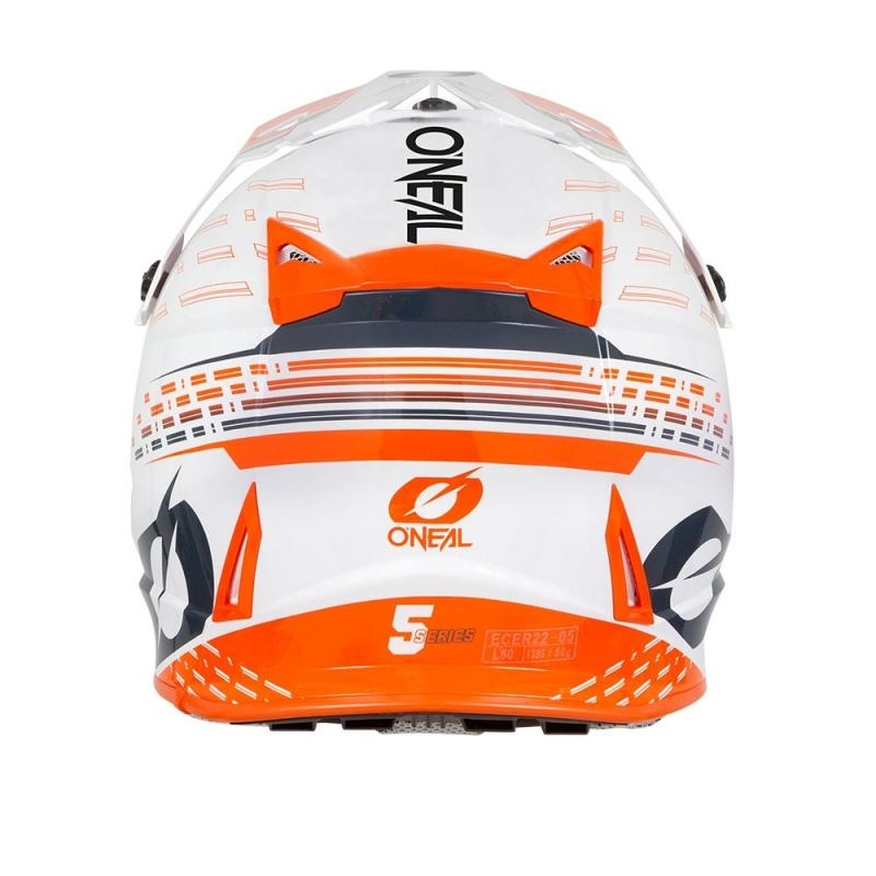 Casque cross O'Neal 5SRS Trace blanc/orange - 1