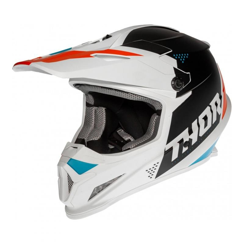 Casque cross Thor Sector Blade blanc/navy