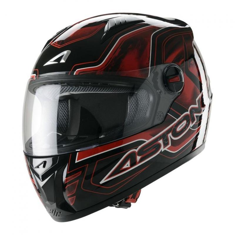 Casque Intégral Astone Gt Graphic Exclusive Burning rouge