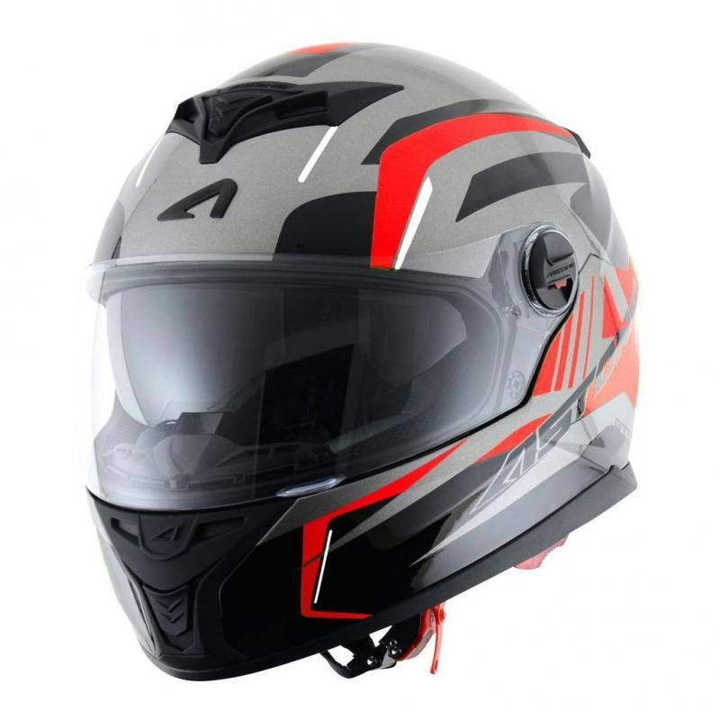 Casque intégral Astone GT800 exclusive DRONE noir/rouge fluo