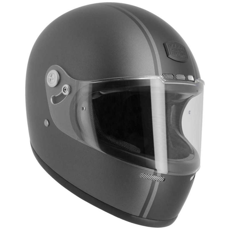 Casque intégral Astone VINTAGE GT RETRO mat gris/noir - 5