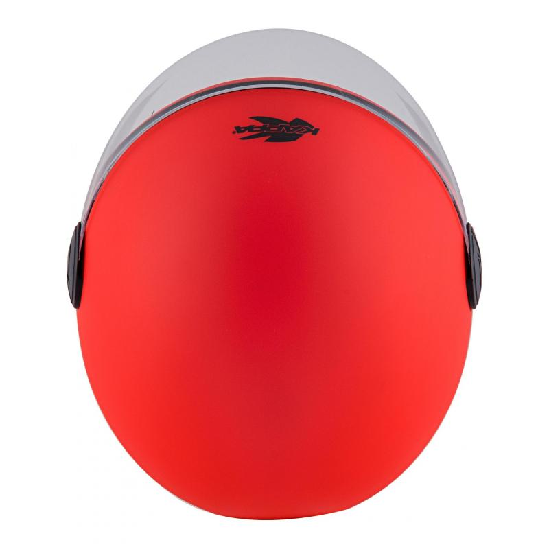 Casque jet Kappa KV40 Hawaii Basic rouge mat - 6