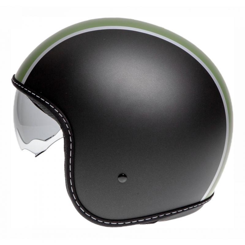 Casque jet Momo Design Blade noir mat/vert - 1