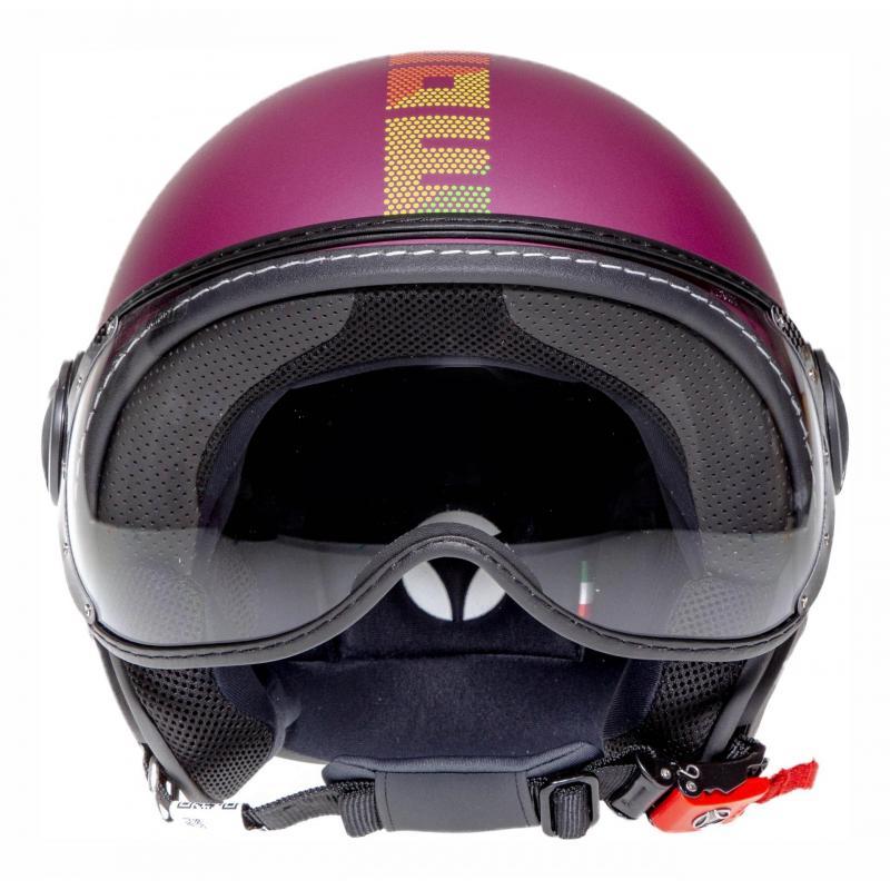 Casque jet Momo Design FGTR Pixel violet mat - 3