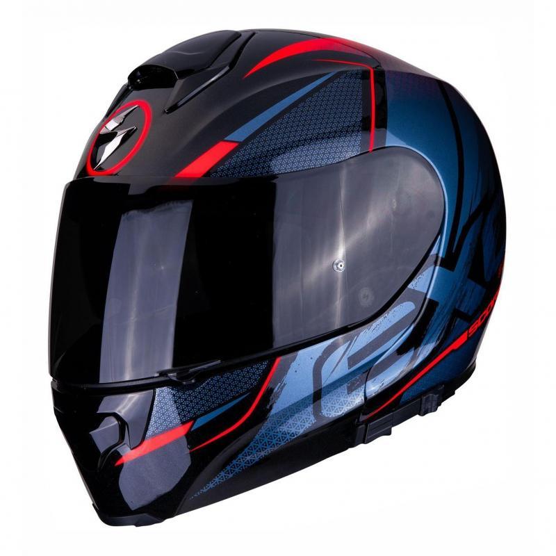 Casque modulable Scorpion Exo-3000 Air Creed noir/rouge