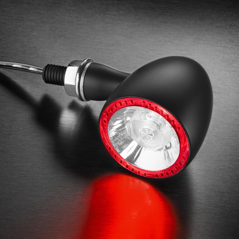 Clignotant LED Kellermann Bullet 1000 DF noir avec feu stop et feu arrière intégrés - 1