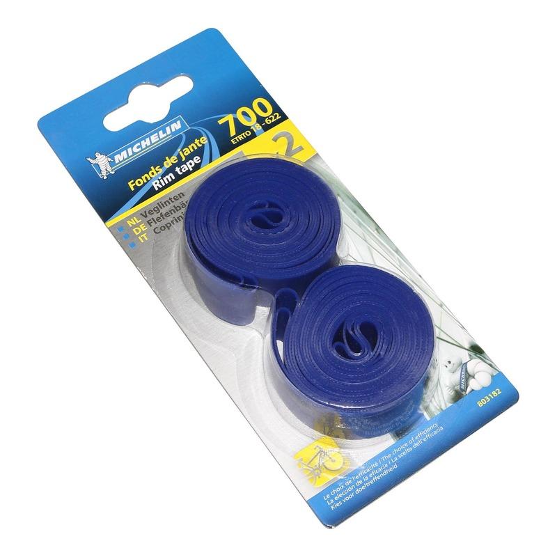 Fonds de jante vélo Michelin haute pression bleu 700 x 18mm