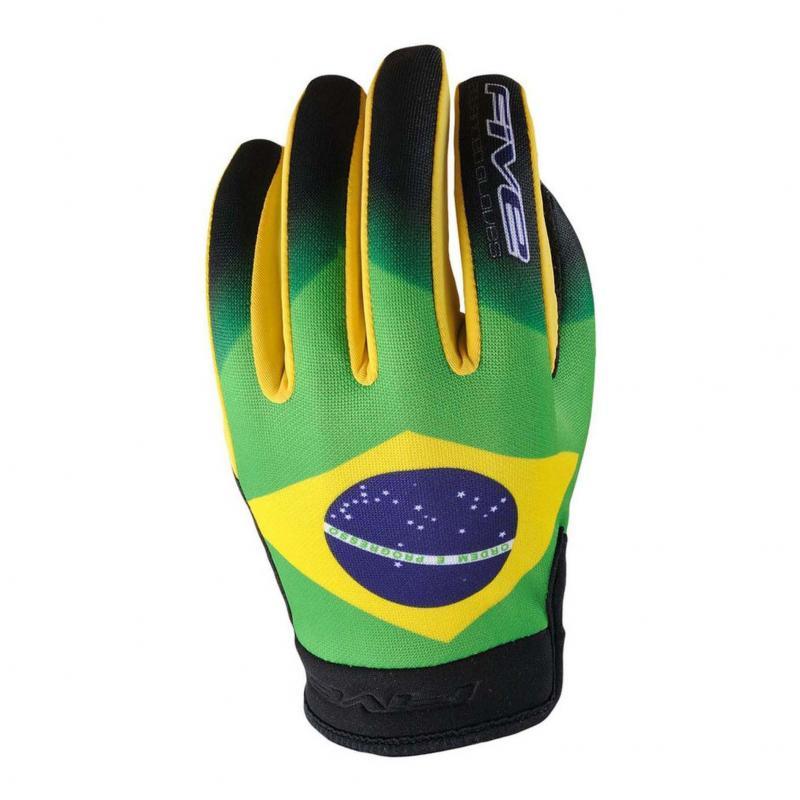 Gants Five Planet Patriot Brésil