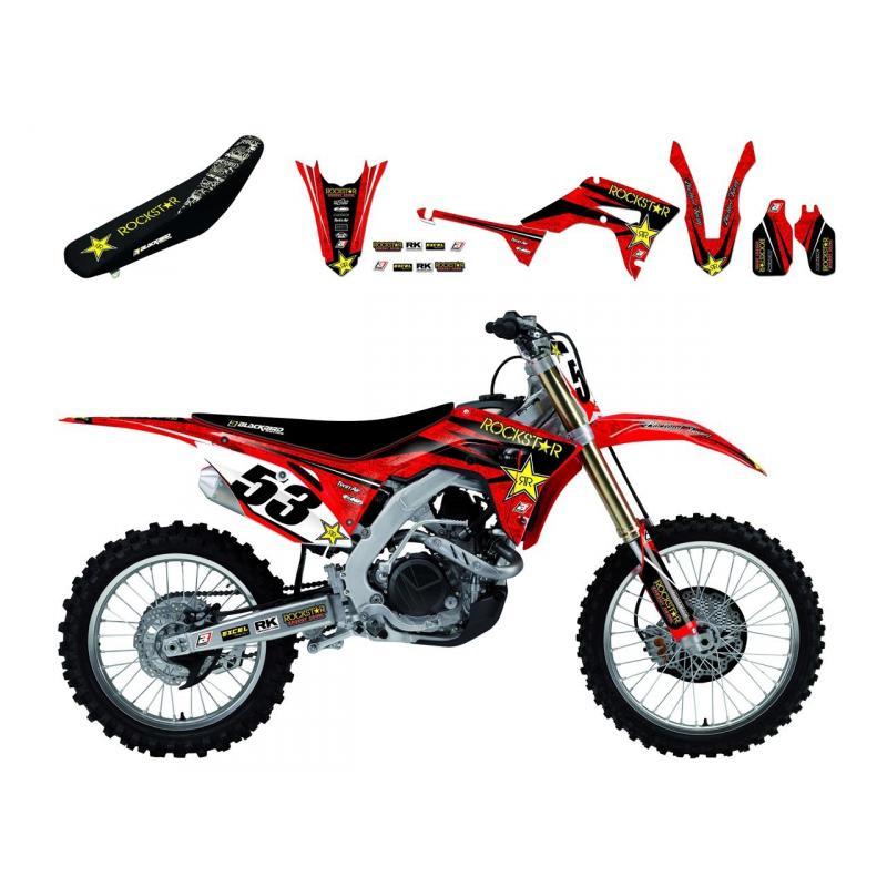 Kit déco + Housse de selle Blackbird Rockstar Energy Honda CRF 450R 09-12