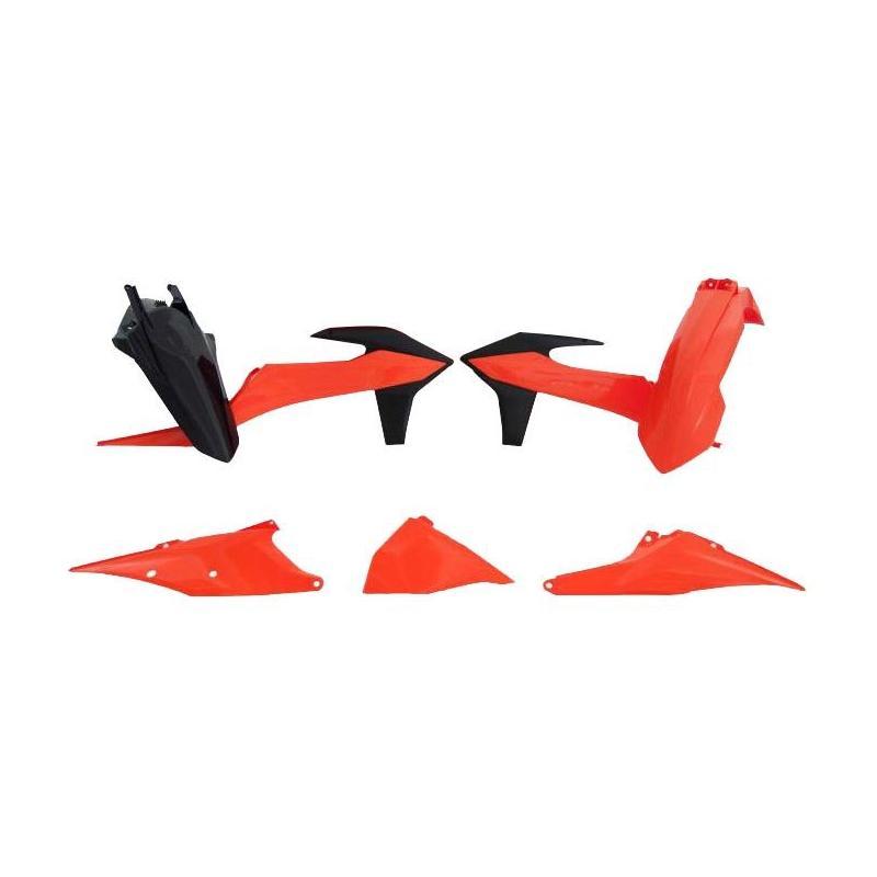 Kit plastique RTech KTM 250 EXC-F 20-21 noir/orange (couleur OEM)
