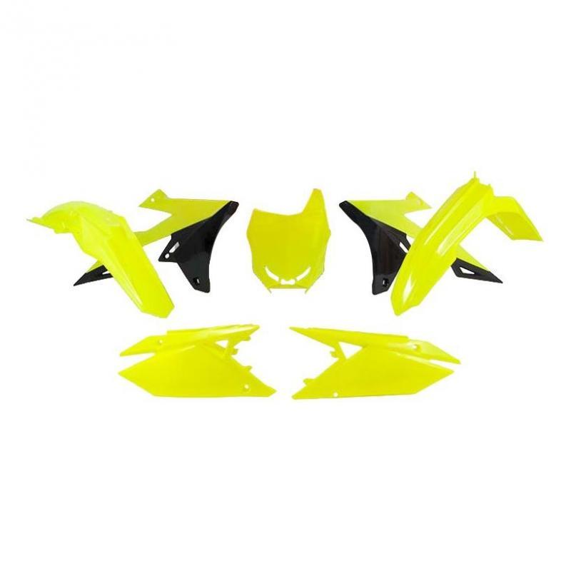 Kit plastique RTech Suzuki 250 RM-Z 19-21 jaune fluo/noir