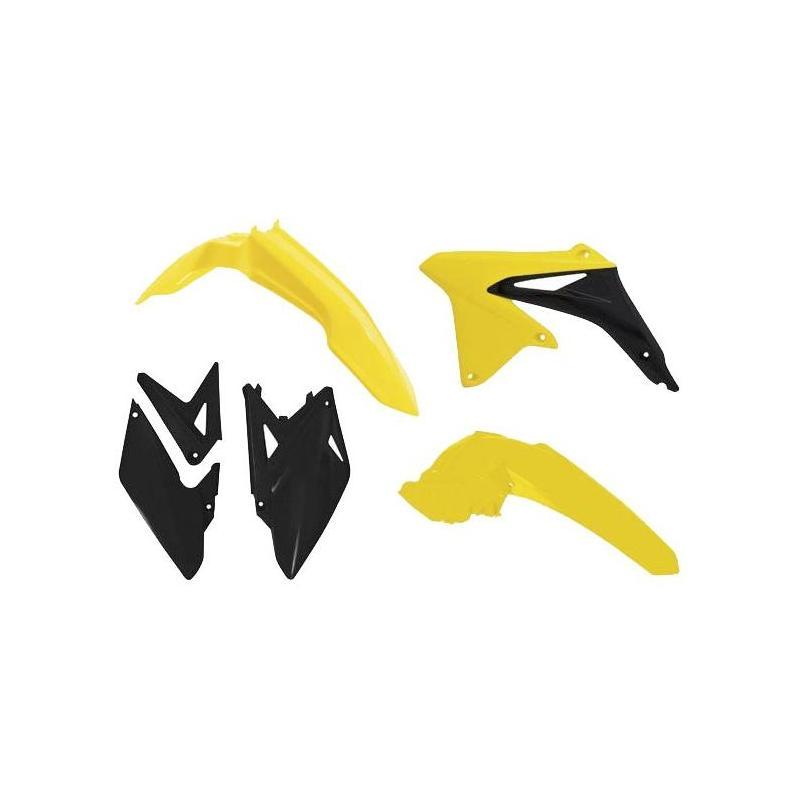 Kit plastique RTech Suzuki 450 RMX-Z 10-19 jaune/noir (couleur OEM 2017)