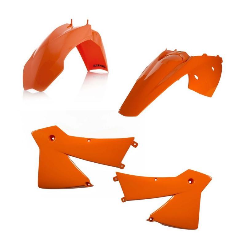 Kit plastiques Acerbis KTM 125/200/250/300 EXC 2004 orange (orange98)