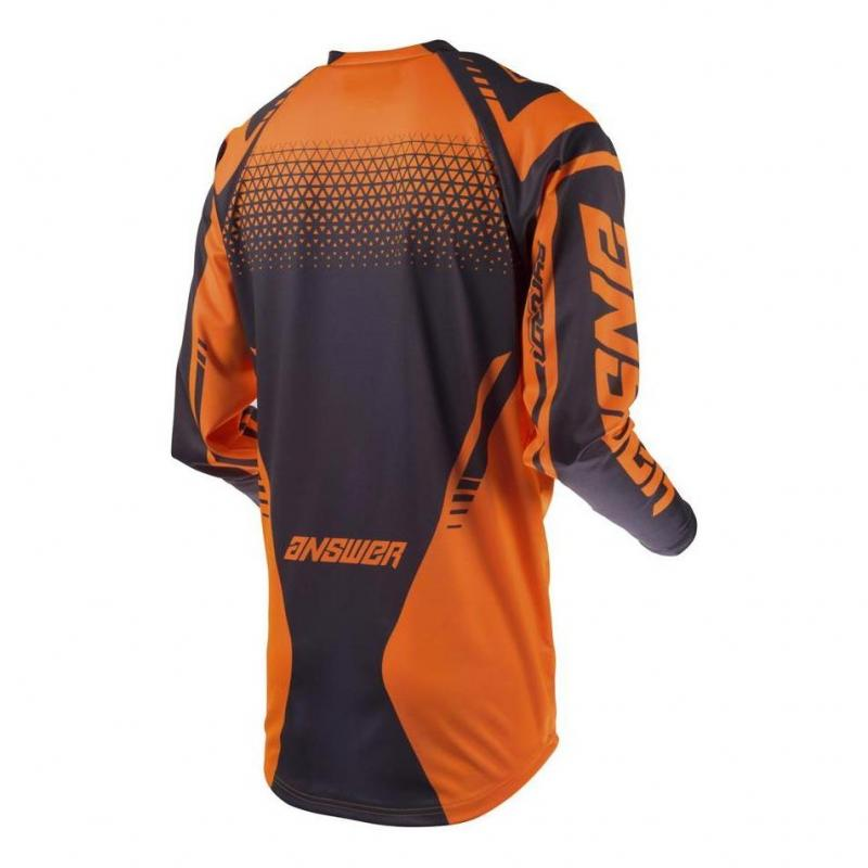 Maillot cross Answer Syncro Drift orange fluo/charcoal - 1