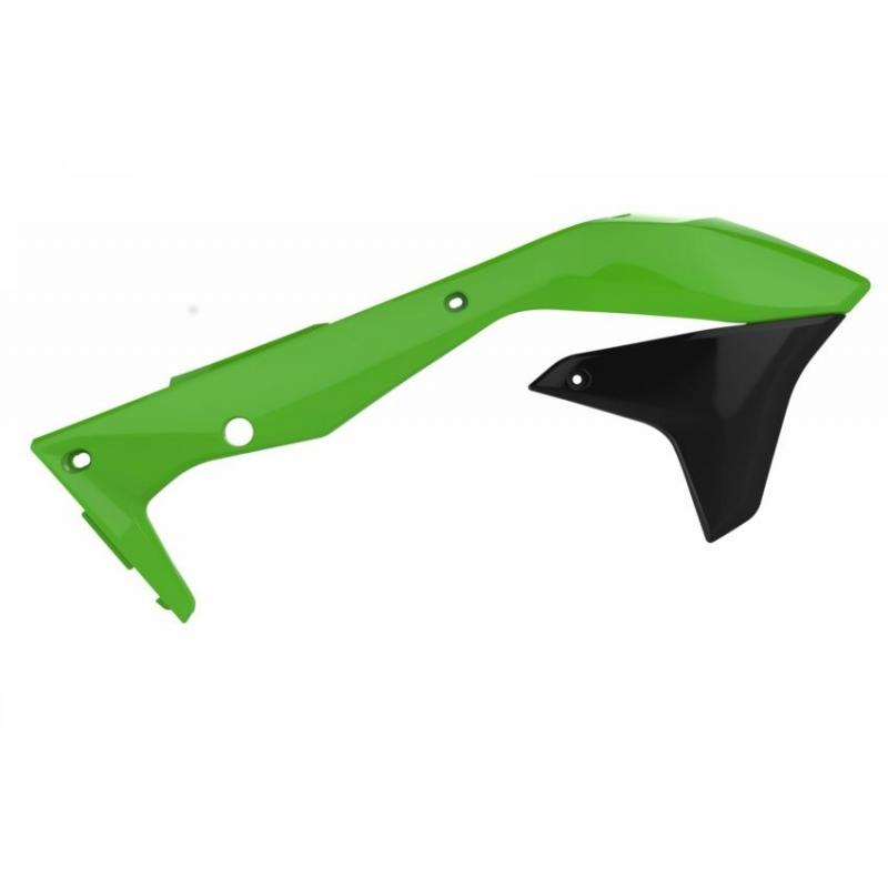 Ouïes de radiateur Polisport Kawasaki 450 KX-F 16-18 (vert/noir origine 16)