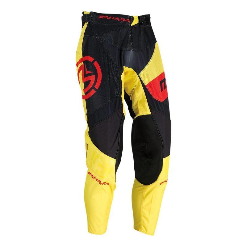 Pantalon cross Moose Racing Sahara noir/jaune/rouge