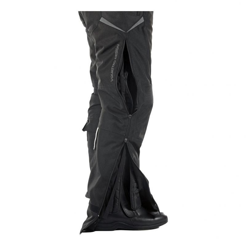 Pantalon textile V'Quattro Randy noir - 1