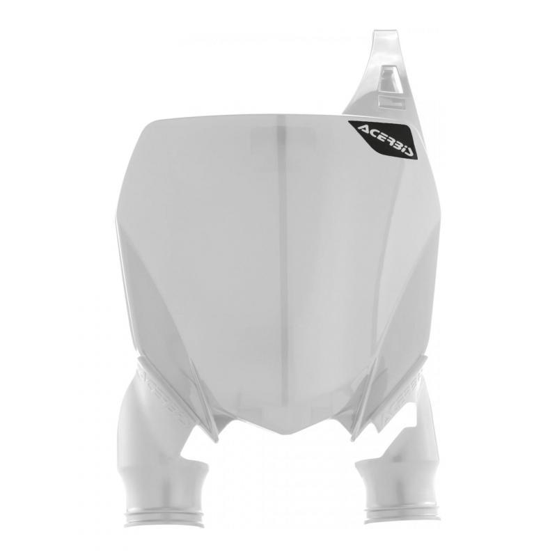 Plaque numéro frontale Acerbis Raptor Yamaha 450 YZ-F 18-21 blanc