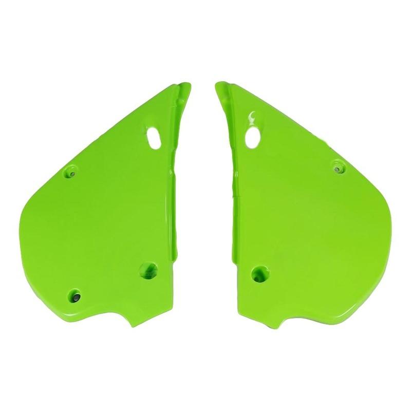 Plaques numéro latérales UFO Kawasaki 80 KX 91-97 vert (vert KX)