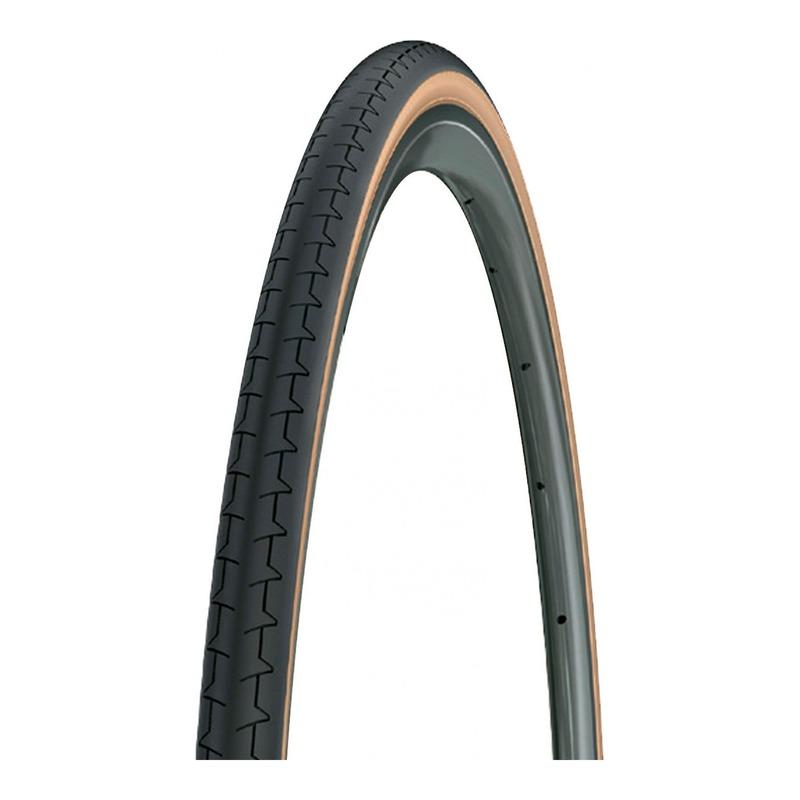 Pneu vélo route/City Michelin Dynamic Classic TR noir/beige (28/29X1,10'')