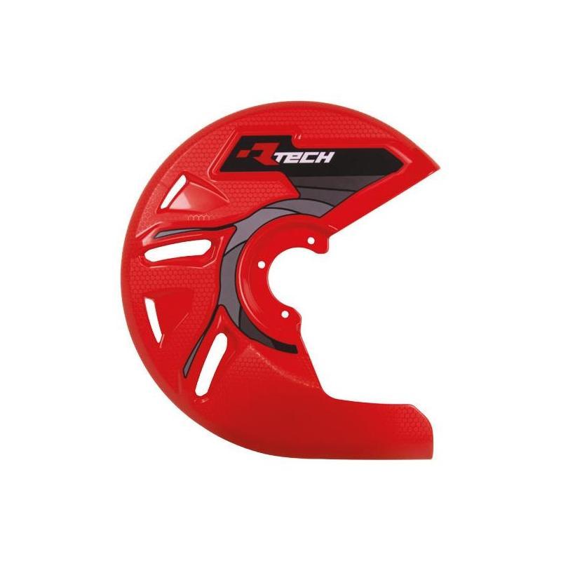 Protection de disque de frein avant RTech rouge (rouge CR)