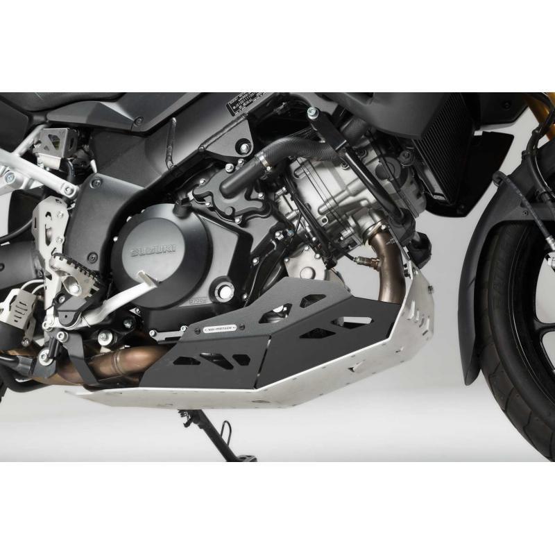Sabot moteur SW-MOTECH sans barres de protection latérale noir / gris Suzuki V-Strom 1000 - 4