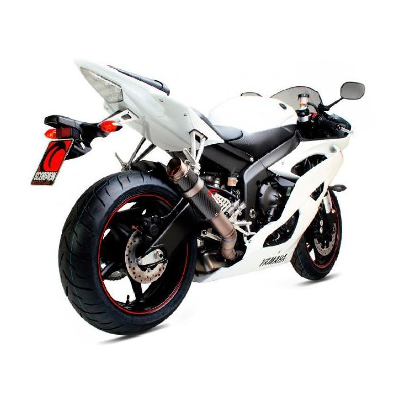 Silencieux Scorpion RP1-GP carbone Yamaha YZF-R6 06-17