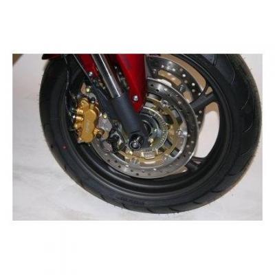 Tampons de protection de fourche R&G Racing noirs Yamaha TDM 900 02-14