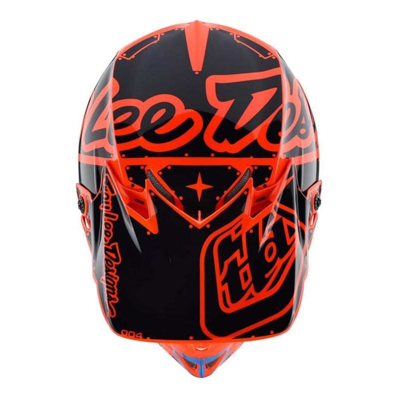 Casque cross enfant Troy Lee Designs SE4 Polyacrylite Factory orange - 3
