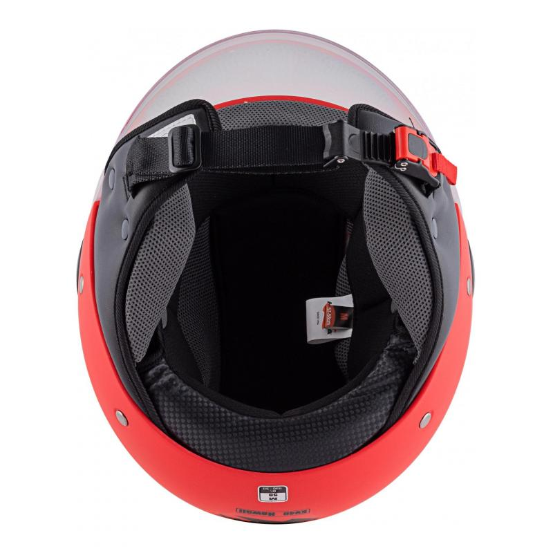 Casque jet Kappa KV40 Hawaii Basic rouge mat - 7