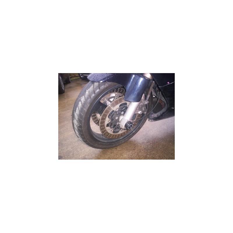 Tampons de protection de fourche R&G Racing noirs Kawasaki Z 1000 03-06