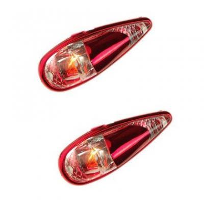 Paire de Feux Décoratifs Tun'R Goutte D'eau Micro Clips Éclairage Orange/Rouge