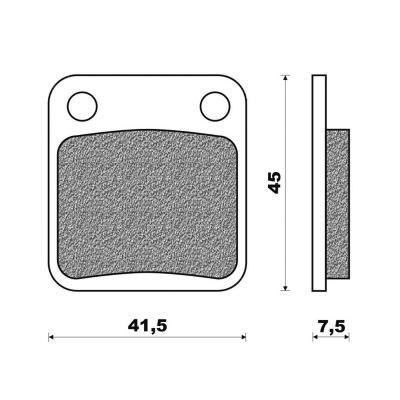 Plaquettes de frein Newfren Standard organique .FD.0080 BS