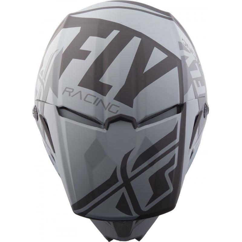 Casque cross Fly Racing Elite Guild gris/noir - 3