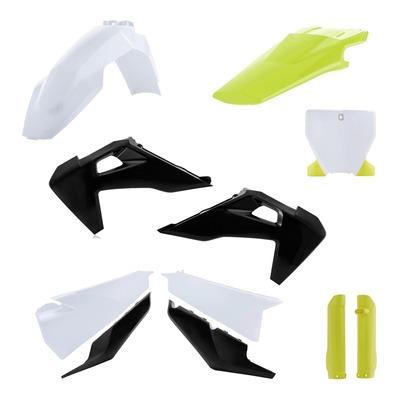 Kit plastiques complet Acerbis Husqvarna 250 FC 19-21 blanc/noir/jaune (Factory Édition 21)