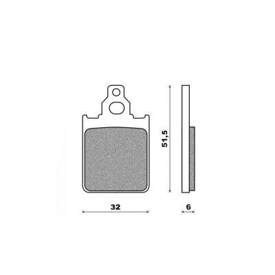 Plaquettes de frein Newfren Standard organique .FD.0266 BKS