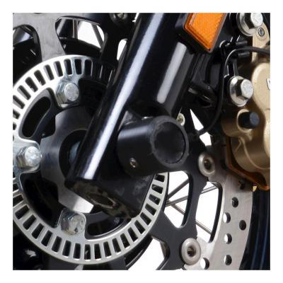 Tampons de protection de fourche R&G Racing noir Royal Enfield Interceptor 650 19-20